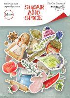 "Дизайнерски хартиени елементи ""Sugar and Spice"", Scrapmir"