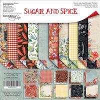 """Комплект дизайнерски хартии """"Sugar and Spice"""", 20см, Scrapmir"""
