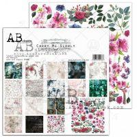 """Дизайнерски комплект хартии """"Carry me slowly"""" - 30см, ABStudio"""