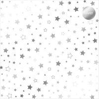 "Дизайнерски ацетатен лист ""Звезди-сребристи"", Kora Projects"