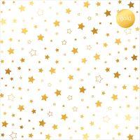 """Дизайнерски ацетатен лист """"Звезди-златисти"""", Kora Projects"""