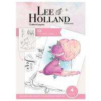 """Комплект прозрачни печати """"With Love"""", Lee Holand"""