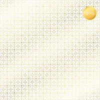 """Дизайнерски ацетатен лист """"Деко кръгчета-златисти"""", Kora Projects"""
