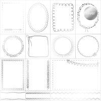 "Дизайнерски ацетатен лист ""Рамки-сребристи"", Kora Projects"