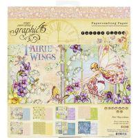 "Дизайнерско блокче хартии ""Fairie Wings"", 20см, Graphic 45"