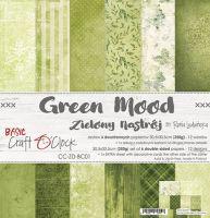 "Дизайнерски комплект хартии ""Basic 01 - Green Mood"", 30.5см, Craft o'Clock"