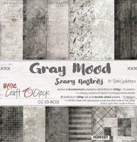 """Дизайнерски комплект хартии """"Basic 02 - Gray Mood"""", 30.5см, Craft o'Clock"""