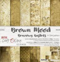 """Дизайнерски комплект хартии """"Basic 03 - Brown Mood"""", 30.5см, Craft o'Clock"""