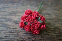 Рози, тъмночервени, 10мм
