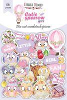 "Дизайнерски хартиени елементи ""Cutie sparrow girl"", Fabrika Decoru"
