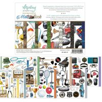 "Дизайнерско блокче с елементи за изрязване ""Men's Book"", 15смх20см, Mintay Papers"