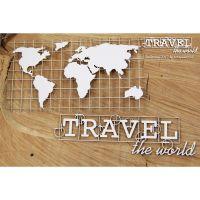 """Дизайнерски комплект от бирен картон """"Карта на света"""", Scrapiniec"""