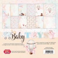 """Дизайнерски комплект хартии """"Бебешки играчки"""", 30см, Craft&You Design"""