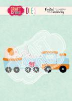 Комплект щанци за изрязване на бебешко влакче-играчка, Craft&YouDesign