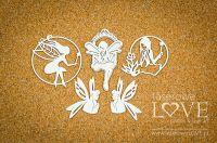 "Дизайнерски комплект от бирен картон ""Fairies 2"", Laserowe Love"