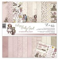 "Дизайнерски комплект хартии ""Vintage Baby Girl"", 30см, Laserowe Love"