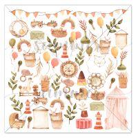 "Дизайнерски лист с елементи за изрязване ""Nursery"", 30.5см, Summer Studio"