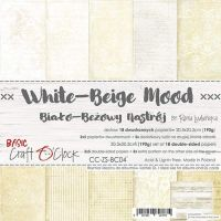 "Дизайнерски комплект хартии ""Basic 04 - White-Beige Mood"", 20см, Craft o'Clock"