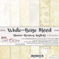 "Дизайнерски комплект хартии ""Basic 04 - White-Beige Mood"", 15см, Craft o'Clock"