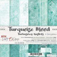 "Дизайнерски комплект хартии ""Basic 05 - Turquoise Mood"", 15см, Craft o'Clock"