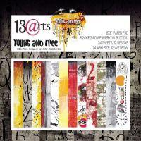 """Дизайнерски комплект хартии """"Young and Free"""", 15см, 13@rts"""