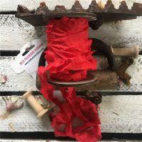 Панделка - червена, сатен