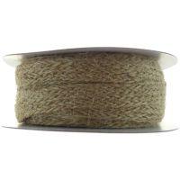 Тъкана лента от естествен канап, кафява, 10ммх1м