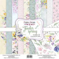 "Комплект дизайнерски хартии ""Tender spring"", 20см, Fabrika Decoru"