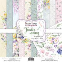 "Комплект дизайнерски хартии ""Tender spring"", 30см, Fabrika Decoru"