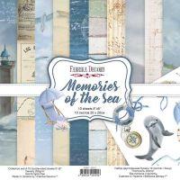 """Комплект дизайнерски хартии """"Memories of the sea"""", 20см, Fabrika Decoru"""