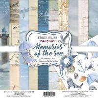 """Комплект дизайнерски хартии """"Memories of the sea"""", 30см, Fabrika Decoru"""