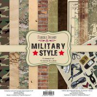 """Комплект дизайнерски хартии """"Military style"""", 20см, Fabrika Decoru"""