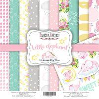 "Комплект дизайнерски хартии ""Little elephant"", 20см, Fabrika Decoru"