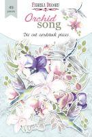 "Дизайнерски хартиени елементи ""Orchid song"", Fabrika Decoru"
