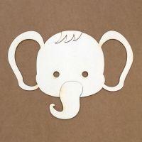 """Силует от бирен картон """"Слон"""""""