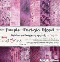 "Дизайнерски комплект хартии ""Basic 06 - Purple-Fuchsia Mood"", 30.5см, Craft o'Clock"