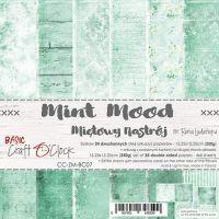 "Дизайнерски комплект хартии ""Basic 07 - Mint Mood"", 15см, Craft o'Clock"