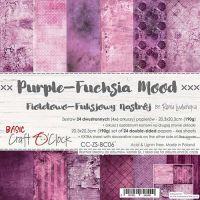 "Дизайнерски комплект хартии ""Basic 06 - Purple-Fuchsia Mood"", 20см, Craft o'Clock"