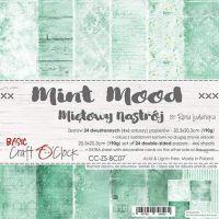 "Дизайнерски комплект хартии ""Basic 07 - Mint Mood"", 20см, Craft o'Clock"
