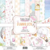 "Комплект дизайнерски хартии ""Funny fox girl"", 20см, Fabrika Decoru"