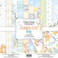 "Комплект дизайнерски хартии ""Funny fox boy"", 20см, Fabrika Decoru"