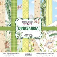 """Комплект дизайнерски хартии """"Dinosauria"""", 20см, Fabrika Decoru"""
