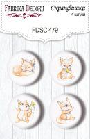 "Скрапбукинг копчета ""Funny fox boy #479"", 4бр., Fabrika Decoru"