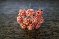 Рози, прасковено-розови, 15мм