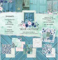 "Дизайнерски комплект хартии ""Blue outside"", 30.5см, Summer Studio"