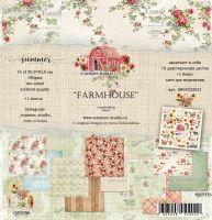 """Дизайнерски комплект хартии """"Farmhouse"""", 30.5см, Summer Studio"""