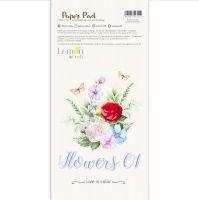 "Дизайнерски комплект с елементи за изрязване ""Flowers 01"", 15см х 30см, Lemoncraft"