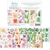 "Дизайнерско блокче с елементи за изрязване ""Flora Book 5"", 15смх20см, Mintay Papers"