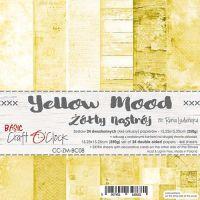 "Дизайнерски комплект хартии ""Basic 08 - Yellow Mood"", 15см, Craft o'Clock"