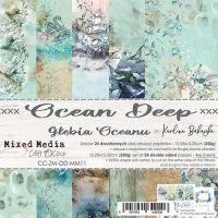 """Дизайнерски комплект хартии """"Ocean Deep"""", 15см, Craft o'Clock"""